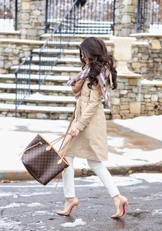nordstrom trench coats, trench coats for spring, christian louboutin so kate 120mm, nude pumps nordstrom, louis vuitton neverfull, burberry scarf, burberry inspired scarf, emily gemma blog, the sweetest thing blog,