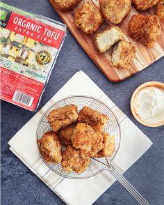 Tofu Fried Chicken | Nasoya Jackfruit Recipes, Tofu Recipes, Delicious Vegan Recipes, Vegetarian Recipes, Chicken Recipes, Vegan Meals, Cooking Recipes, Yummy Food, Healthy Food