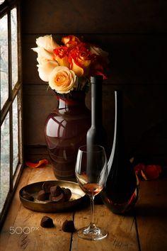 Truffles and wine ¶ by Luiz Laercio on 500px