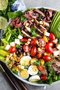 A smoky chipotle mayo and a little time on the grill transform classic cobb salad ingredients into our new favorite summertime dinner—a hearty Southwest-style Cobb salad. Chipotle Dressing, Chipotle Mayo, Summer Salad Recipes, Summer Salads, New Recipes, Delicious Recipes, Easy Recipes, Recipies, Favorite Recipes
