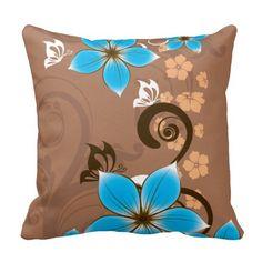 Blue Flowers Throw Pillow http://www.zazzle.com/blue_flowers_throw_pillow-189119689585405365?utm_content=buffer4f311&utm_medium=social&utm_source=pinterest.com&utm_campaign=buffer #pillows #flowers