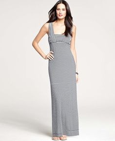 Ann Taylor - AT Petite Dresses - Petite Striped Maxi Dress - Ordered in XXSP