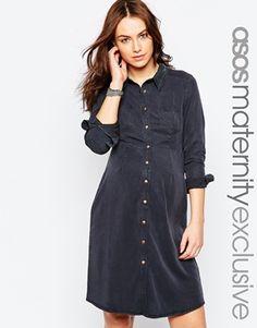 ASOS Maternity Lyocell Shirt Dress