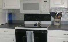 paintable wallpaper as a kitchen backsplash