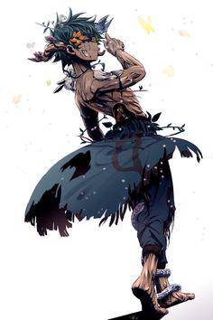 Nature x izuku midoriya Boku No Hero Academia, My Hero Academia Memes, Hero Academia Characters, My Hero Academia Manga, Character Design Cartoon, Fantasy Character Design, Character Design Inspiration, Character Art, Black Anime Characters