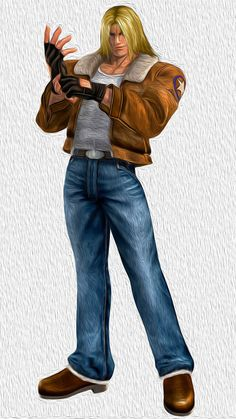 Terry Bogard from Garou: Mark of the Wolves, the '99 reboot of the Fatal Fury Series...