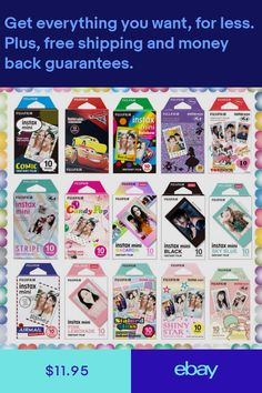 For Fujifilm Instax Mini 8 9 25 70 Film Camera Fuji Instant Photo Sheets Fujifilm Instax Mini 7s, Instax Mini Camera, Penny Board Tumblr, Penny Boards, Instax Share, Phone Accesories, Instax Mini Film, Tumblr Quality, Shabby Chic Painting