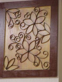 Quadro Decorativo Flores (reciclado)