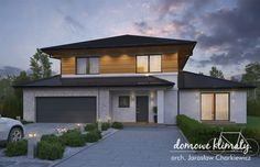 Projekt domu Verona IV, wizualizacja 2 Bungalow House Design, House Entrance, Verona, Ground Floor, Home And Living, Exterior Design, House Plans, Sweet Home, Outdoor Decor
