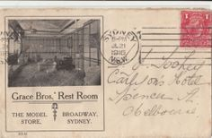 Stamp Australia deep red KGV single watermark on cover dated 12 June 1916 in Stamps, Australia, By Type Rest Room, Vintage Advertisements, Sydney, Broadway, Brother, Poster, Advertising, Shops, Stamp