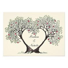 Apple Tree Heart Wedding Invitation