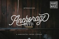 Ad: Anchorage Script Typeface - OFF by pratamaydh on Introducing Anchorage Script Typeface! with 2 Styles and Simple Swash --- Anchorage Script Typeface is a handcrafted script vintage font. Script Typeface, Handwritten Fonts, New Fonts, Cursive Fonts, Calligraphy Fonts, Vintage Fonts, Vintage Type, Vintage Lettering, Business Brochure