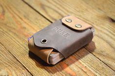 Portatarjetas personalizado de cuero para bolsa de regalo