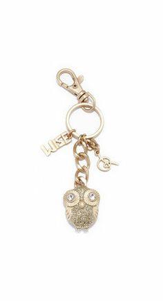 GLITTER OWL KEY CHAIN