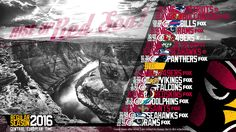 Schedule wallpaper for the Arizona Cardinals Regular Season, 2016. All times CET. Made by #tgersdiy