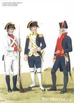 Spanish Army of the Napoleonic Wars (1) 1793-1808 1-Sergeant, Marine Artillery Brigades 2-Fusilier, Cordoba Régiment 3-Officer Cadiz Urban