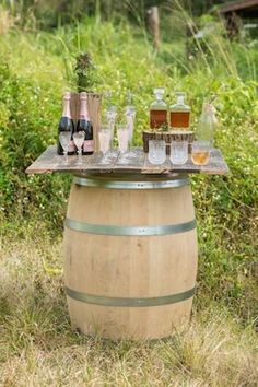 Wine casket bar setup | Designs by Hemingway and Jeannemarie Photography | see more on: http://burnettsboards.com/2014/07/vintage-bohemian-polo-inspired-wedding-hawaii/