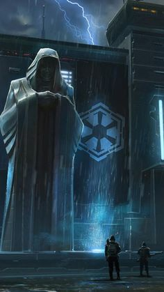 Statue of the Sith Emperor on Dromuund Kaas, Post Galactic Great War. Star Wars Sith, Star Wars Rpg, Star Wars Comics, Star Wars Wallpapers, Iphone Wallpapers, Interstellar, Carte Star Wars, Cyberpunk, Starwars