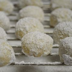 Kourabiedes fresh out of the oven & rolled in powdered sugar! I'll be spending the rest of the night putting together pictures and a blog to have up for you tomorrow to try yourself. 🤗