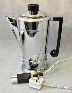 Vintage 1950s Bulpitt & Son Swan Mayfair Electric Chrome Coffee Percolator FWO