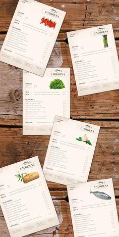 Restaurant Menu by KAROLINA BORANKOVA, via Behance