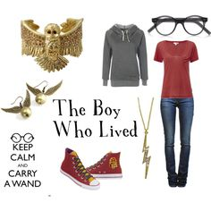 """""""Harry Potter - Street Clothes"""" by favourite-fictional-fashions on Polyvore"""