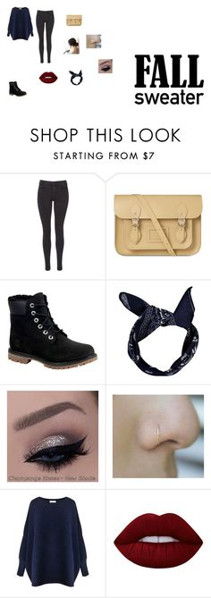 """""""Untitled #32"""" by shortiiiee on Polyvore featuring Maison Scotch, The Cambridge Satchel Company, Timberland, Boohoo, Paisie and Lime Crime"""