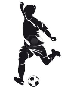 vector football (soccer) player running silhouette with ball isolated Stock Photo - 12479822