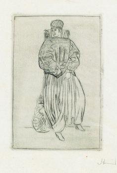 Dame im Winterkostüm Strnad, Oskar Glass Art, Design