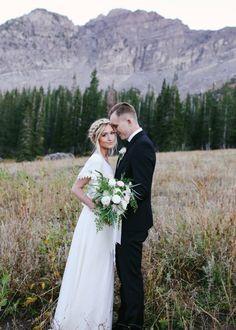 Wedding Photos #bohoweddingdress #modestweddingdress #braidcrown