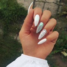 Sharp  @nails.10k • • • #nailartaddict #nailart #nailartofinstagram #nailstagram #nailsoftheday #nailstyle #nailsofig #instanails…