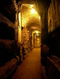 The Catacombs, Rome, Italy. Durring the persucution of the early church, the Church hid down in the city