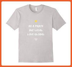 bb8d558dee Mens Cute Panda Pirate T-Shirt for Women & Men Medium Silver - Animal shirts  (*Partner-Link)