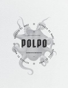 Polpo Restaurant by Richard Marazzi - LOGO ON SCREENED IMAGE