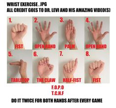Gaming Wrist Exercise
