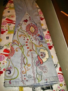 On a recent resale shopping trip, I came across this wonderfully embroidered denim shirt. I love all of the elaborate stitches and colors. ...