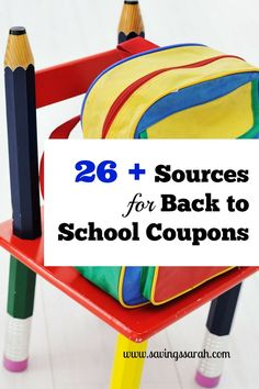 Dreading the cost of Back-to-School shopping? No need when you use these 26 Plus Places to find great school supply and back-to-school clothing coupons. Watch the savings add up!