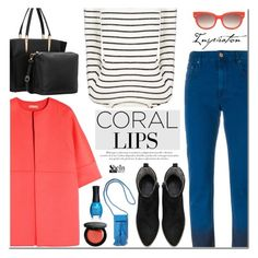 """""""Spring Beauty: Corals"""" by mada-malureanu ❤ liked on Polyvore featuring Étoile Isabel Marant, Michael Kors, Chinti and Parker, Bobbi Brown Cosmetics, ORLY, Equipment, Rebecca Minkoff, women's clothing, women and female"""