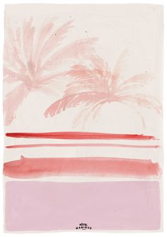 HOTEL MAGIQUE Pink palm leaves art print. Shop online HOTELMAGIQUE.COM