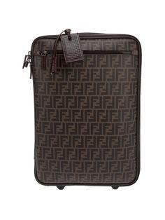 Fendi Monogrammed Suitcase in Brown | Lyst
