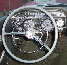 1959 Buick Steering wheel! We love this retro vintage look!