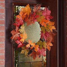 We are loving our Burlap Leaf Wreath! So many rich fall colors! #kirklands #harvest