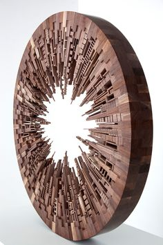 New Wooden Cityscapes Sculpted with a Bandsaw by... | Colossal