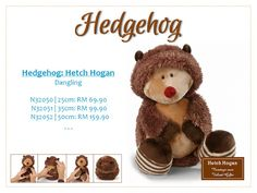 Nicitoys.com: Nici Online Malaysia by Velvet Gifts: Hetch Hogan Hedgehog Dangling Plush