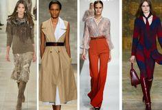 mode femme hiver 2015 2016 - matières et couleurs tendance