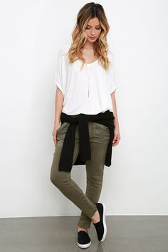 Obey Berlin Olive Green Jogger Pants at Lulus.com!