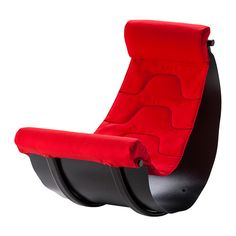 IKEA - FLAXIG, Rocking chair, , The chair is designed to develop balance, but is also comfortable to sit in when relaxing or playing video games.The shape encourages the child to move and rock when they sit, which is better for the body than static sitting.