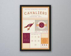 Items similar to Lebron James King Cleveland Cavaliers Print NBA Poster- Lebron  James King art a7b47d216
