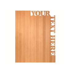 Large Cutting Board ~ Top and Side Text