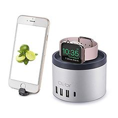 Apple Watch Charging Stand, Olebr & 1 Type C][Nightstand Mode] Charging Dock Station [ Aluminum ] with Phone Holder for iPhone Plus,Charging Dock for iWatch Series Wearable Technology, Technology Gadgets, Apple Watch Charging Stand, Thing 1, Docking Station, Iphone Accessories, 7 Plus, Phone Holder, Iphone 7